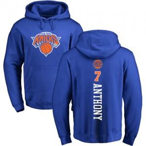 Nike Hoodie Basket Carmelo Anthony New York Knicks Homme & Enfant Pullover No.7 Bleu royal Backer