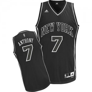 Maillots De Anthony Knicks No.7 Ombre noire Adidas Homme
