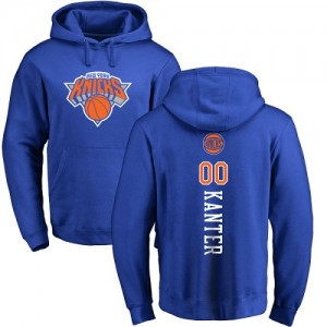 Nike Hoodie Enes Kanter New York Knicks Pullover No.00 Bleu royal Backer Homme & Enfant