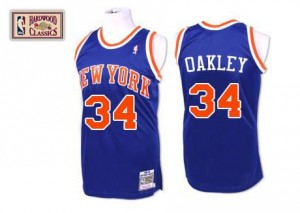 Mitchell and Ness Maillot De Oakley Knicks Throwback No.34 Bleu royal Homme