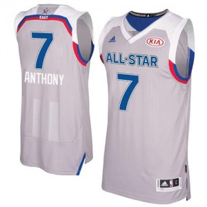 Adidas NBA Maillot Basket Carmelo Anthony New York Knicks 2017 All Star Gris Homme No.7