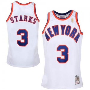 Mitchell and Ness NBA Maillot De Basket Starks New York Knicks Homme No.3 Blanc Throwback