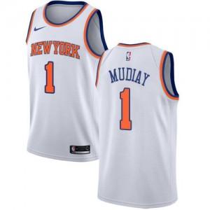 Nike NBA Maillots De Basket Mudiay Knicks No.1 Enfant Blanc Association Edition