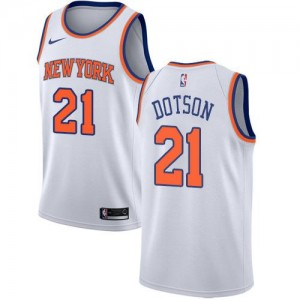 Maillot Basket Dotson Knicks Enfant Association Edition Blanc No.21 Nike