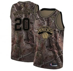Nike NBA Maillots Basket Houston New York Knicks No.20 Realtree Collection Homme Camouflage