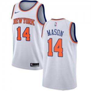 Maillot Basket Mason New York Knicks Enfant Association Edition Nike Blanc No.14