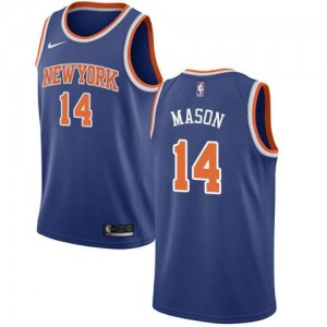 Nike NBA Maillots Basket Anthony Mason New York Knicks Enfant Bleu royal Icon Edition No.14