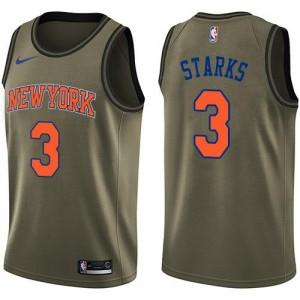 Nike Maillots Basket John Starks Knicks Homme vert Salute to Service #3