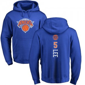 Nike NBA Hoodie Lee Knicks Homme & Enfant No.5 Bleu royal Backer Pullover