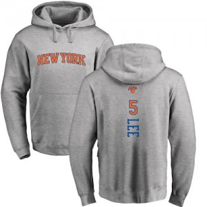 Sweat à capuche De Courtney Lee New York Knicks Ash Backer Pullover Nike Homme & Enfant No.5