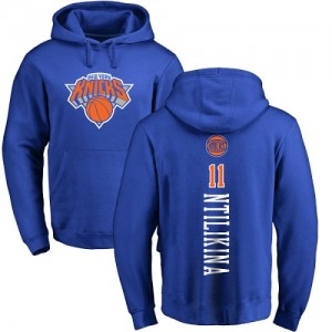 Nike Hoodie De Ntilikina New York Knicks Pullover #11 Bleu royal Backer Homme & Enfant