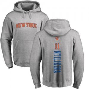 Hoodie Basket Ntilikina Knicks No.11 Ash Backer Homme & Enfant Pullover Nike