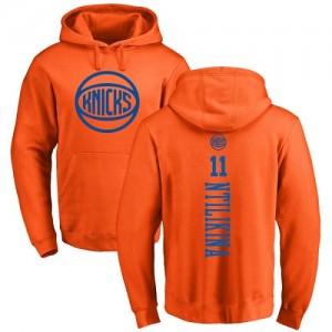 Hoodie De Basket Frank Ntilikina Knicks Homme & Enfant No.11 Orange One Color Backer Pullover Nike