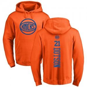 Nike Hoodie Basket Damyean Dotson New York Knicks Orange One Color Backer No.21 Homme & Enfant Pullover