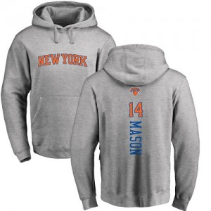 Nike Sweat à capuche De Basket Anthony Mason Knicks #14 Ash Backer Pullover Homme & Enfant