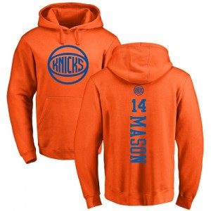Nike NBA Sweat à capuche De Basket Anthony Mason Knicks #14 Homme & Enfant Orange One Color Backer Pullover