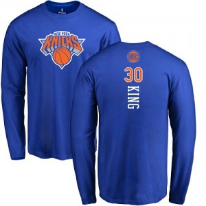 T-Shirt Bernard King New York Knicks Long Sleeve Bleu royal Backer No.30 Homme & Enfant Nike