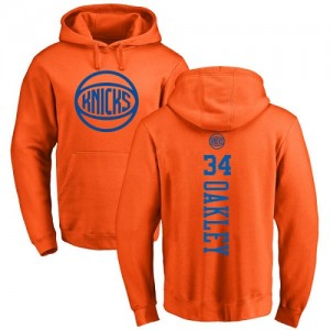 Nike Sweat à capuche De Charles Oakley Knicks No.34 Pullover Homme & Enfant Orange One Color Backer