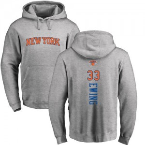 Sweat à capuche De Basket Ewing Knicks Ash Backer #33 Nike Homme & Enfant Pullover