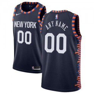 Personnalisable Maillot De Basket Knicks Enfant 2018/19 City Edition bleu marine Nike