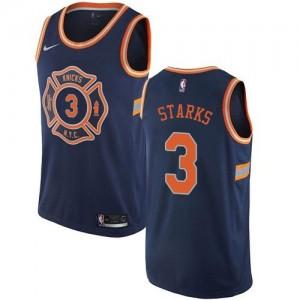 Nike Maillots De Basket John Starks New York Knicks No.3 City Edition bleu marine Enfant