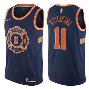 Nike NBA Maillot De Basket Ntilikina New York Knicks bleu marine #11 City Edition Enfant