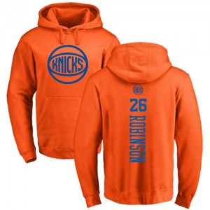 Nike Sweat à capuche Mitchell Robinson New York Knicks Pullover No.26 Homme & Enfant Orange One Color Backer