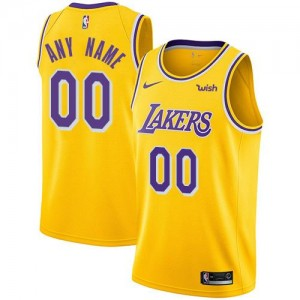Nike NBA Personnaliser Maillot De Basket Lakers or Icon Edition Homme