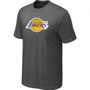 Tee-Shirt Basket Los Angeles Lakers Gris foncé Big & Tall Primary Logo Homme