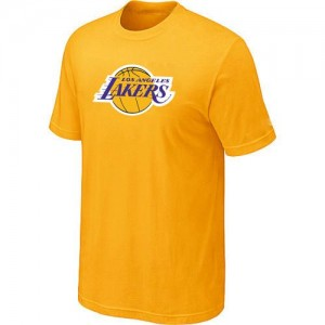 NBA T-Shirt De Basket Los Angeles Lakers Big & Tall Primary Logo Jaune Homme