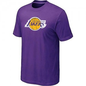 T-Shirt Basket LA Lakers Big & Tall Primary Logo Violet Homme