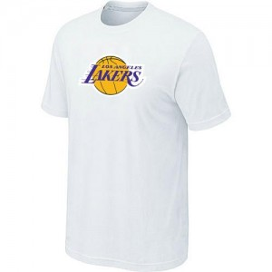 NBA T-Shirt De Basket Los Angeles Lakers Homme Big & Tall Primary Logo Blanc