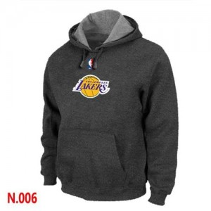 NBA Sweat à capuche Basket Lakers Gris foncé Homme Pullover