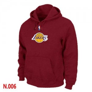 Sweat à capuche Basket Lakers Pullover Rouge Homme