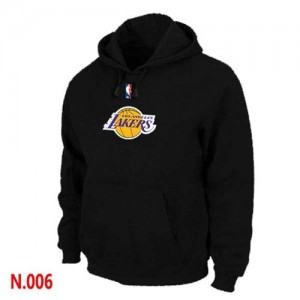 Sweat à capuche De Lakers Homme Noir Pullover