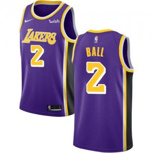 Maillots De Basket Ball Lakers Homme Nike #2 Statement Edition Violet
