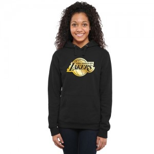 NBA Sweat à capuche De Basket Lakers Noir Femme Gold Collection Ladies Pullover