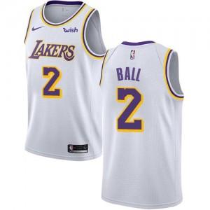 Maillot De Basket Lonzo Ball Lakers Nike Homme Blanc Association Edition #2