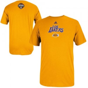 T-Shirt Basket Los Angeles Lakers 2014 Noches Enebea or Adidas Homme