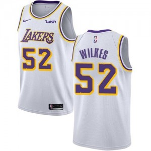 Nike NBA Maillots De Basket Wilkes Los Angeles Lakers No.52 Blanc Homme Association Edition