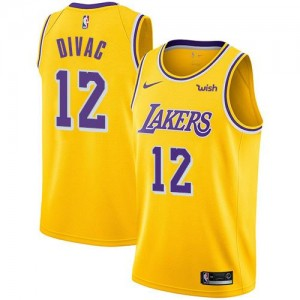 Nike Maillots Basket Vlade Divac LA Lakers or No.12 Icon Edition Homme
