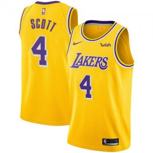 Nike Maillot De Basket Byron Scott LA Lakers or No.4 Homme Icon Edition
