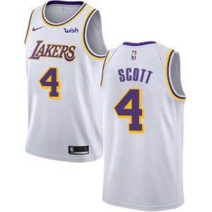 Maillot Basket Byron Scott LA Lakers No.4 Association Edition Nike Homme Blanc