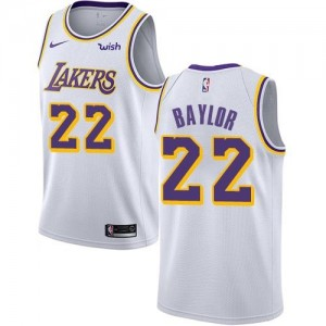 Nike NBA Maillots Baylor LA Lakers Association Edition Homme No.22 Blanc