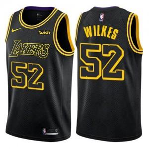 Maillot Basket Wilkes LA Lakers Enfant #52 City Edition Noir Nike