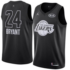 Maillots De Basket Kobe Bryant Los Angeles Lakers Nike Enfant 2018 All-Star Game Noir #24