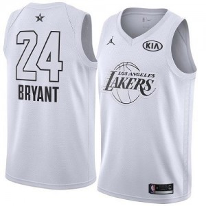 Nike Maillot Basket Kobe Bryant LA Lakers Enfant Blanc 2018 All-Star Game #24