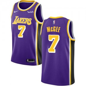 Nike NBA Maillot De McGee Los Angeles Lakers #7 Statement Edition Violet Homme