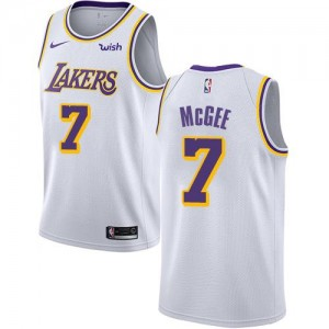 Maillots JaVale McGee Lakers No.7 Homme Nike Blanc Association Edition