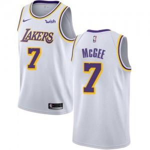 Nike NBA Maillot Basket JaVale McGee Lakers Association Edition Blanc Enfant #7